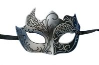 Silver and Black Gothic Mask